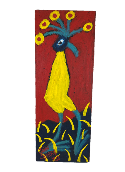 Painted Birds on Wood