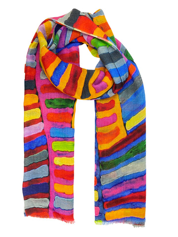 Multi Colored Stripped Scarf