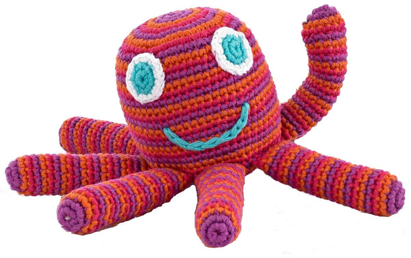 Octopus Rattle (Pink)