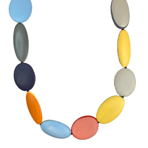 Multi Colored Oval Necklace