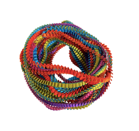 Multicolored Pleated Fabric Necklace