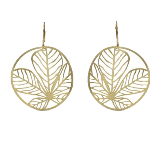 Nature 3 Gold Short Earring