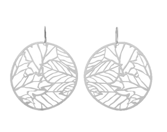 Nature 2 Silver Earrings
