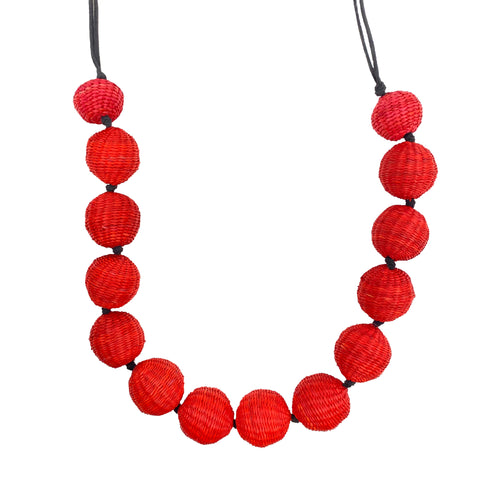 Large Red Sphere Necklace