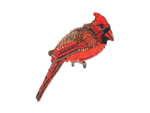 Red Cardinal Brooch Pin