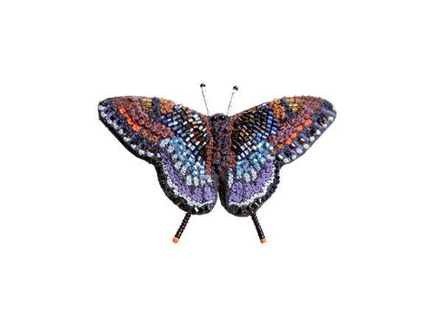 Red Spotted Purple Butterfly Brooch Pin
