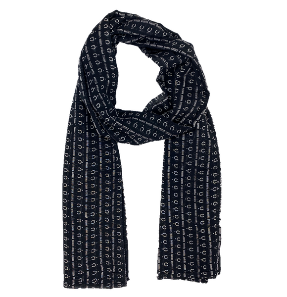 Mali Night Block Printed Scarf