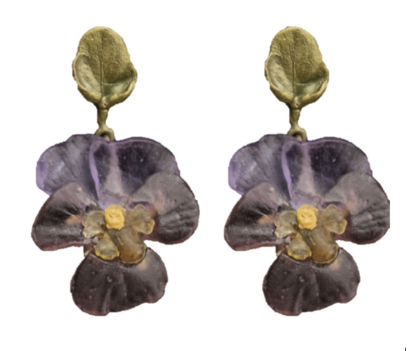 Pansies Earrings - Post