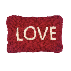 Love Pillow - Hooked Wool Pillow