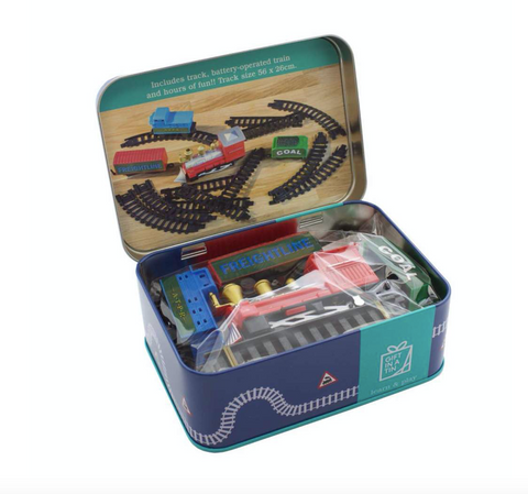 Train Set in a Tin