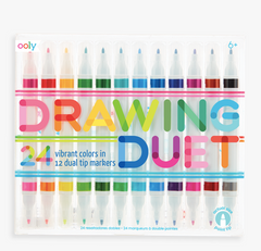 Drawing Duet Double Ended Markers - set of 24 colors