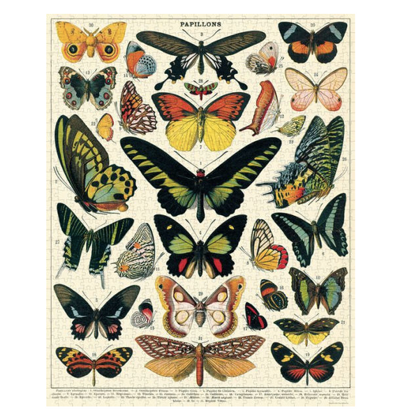 Vintage Butterfly Puzzle
