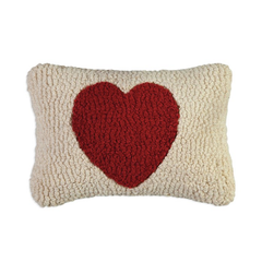Red Heart - Hooked Wool Pillow