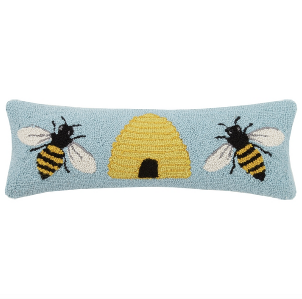 Bee & Hive Hook Pillow