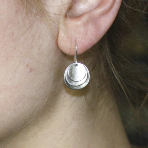 Stacked Disc Earrings