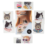Personality Cats Temporary Tattoos