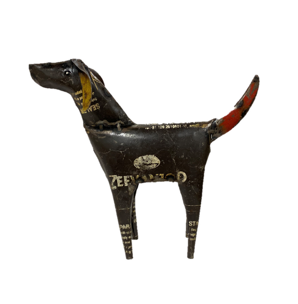 Brown Recycled Metal Dog