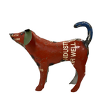 Red Recycled Metal Dog