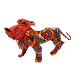 Large Painted Tin Lion