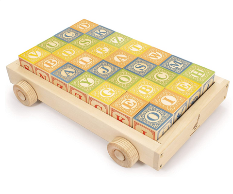 Classic ABC Blocks with Wagon