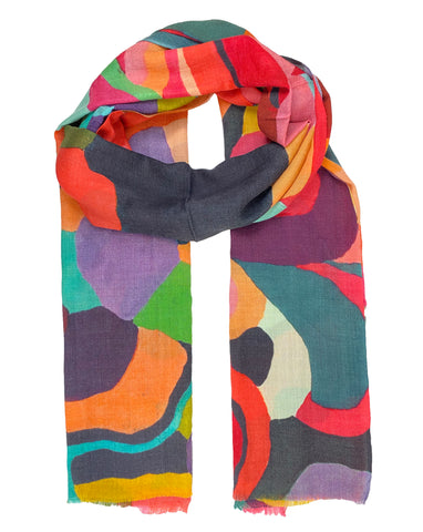 Multi Colored Organic Pattern Scarf