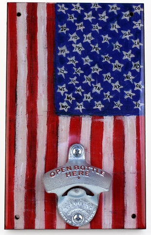 American Flag Bottle Opener
