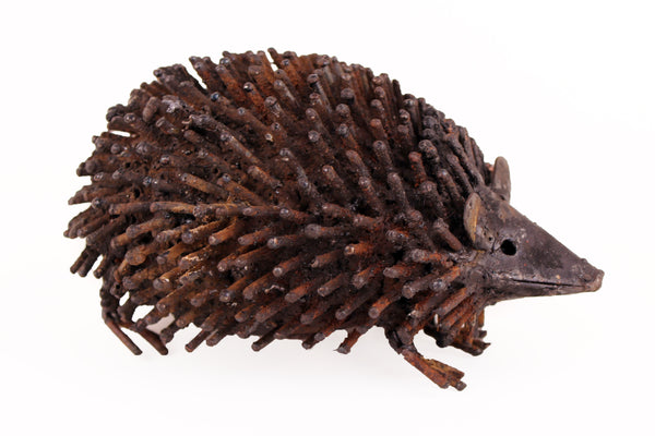 Recycled Metal Hedgehog Sculpture