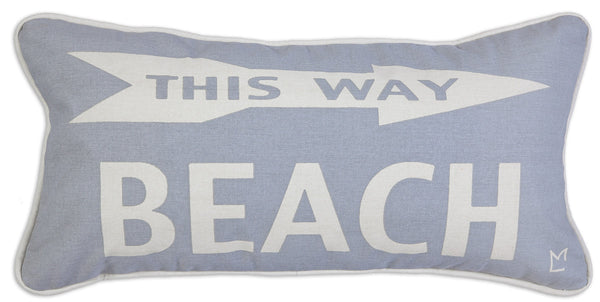 Beach This Way Pillow