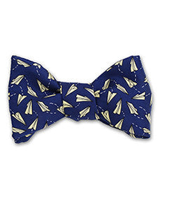 Paper Airplanes Bow Tie