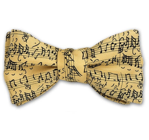 Music Notes Bow Tie