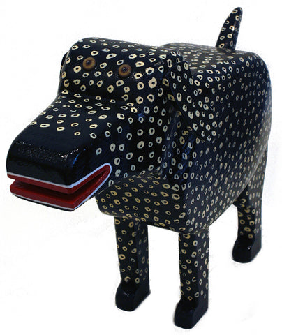 """Domino"" the Wooden Dog"