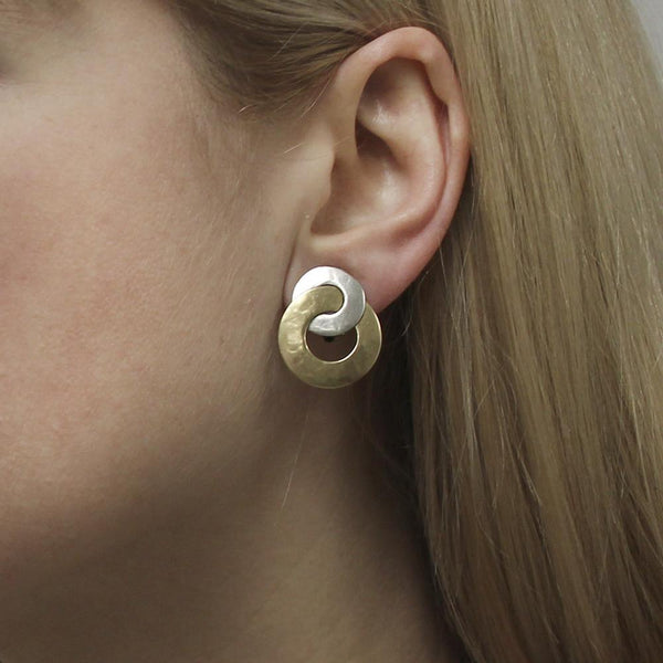 Disc and Semi Circle Clip Earring