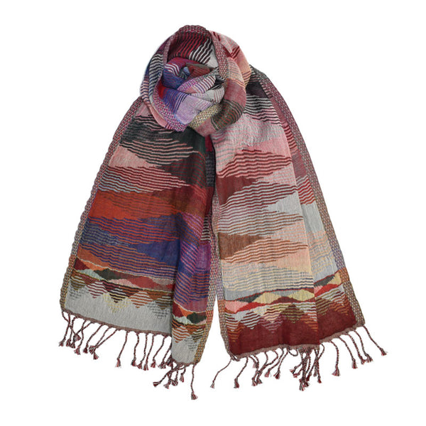 Intrepid Colorful Striped Scarf
