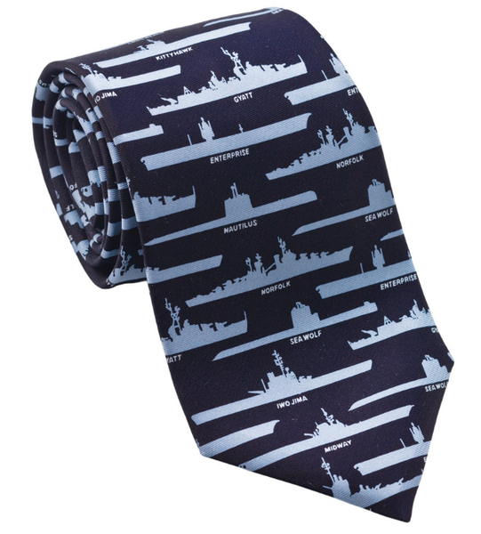 Navy Ships and Submarines Tie
