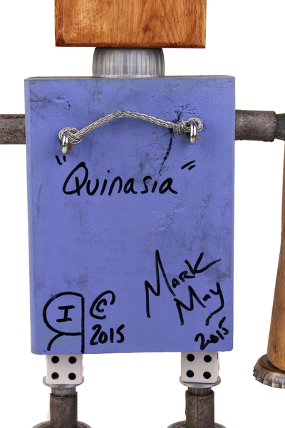 """Quinasia"" Assemblage Robot by Mark May"