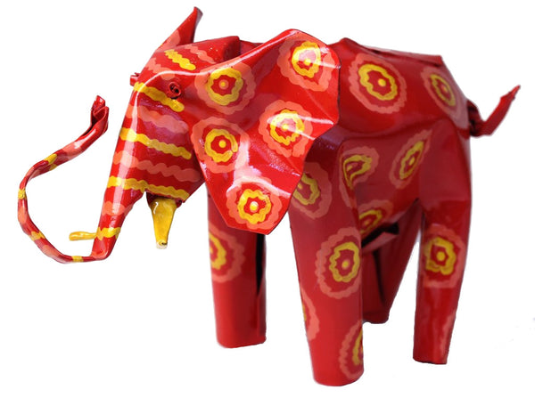 Large Painted Tin Elephant