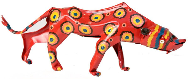 Painted Tin Leopard