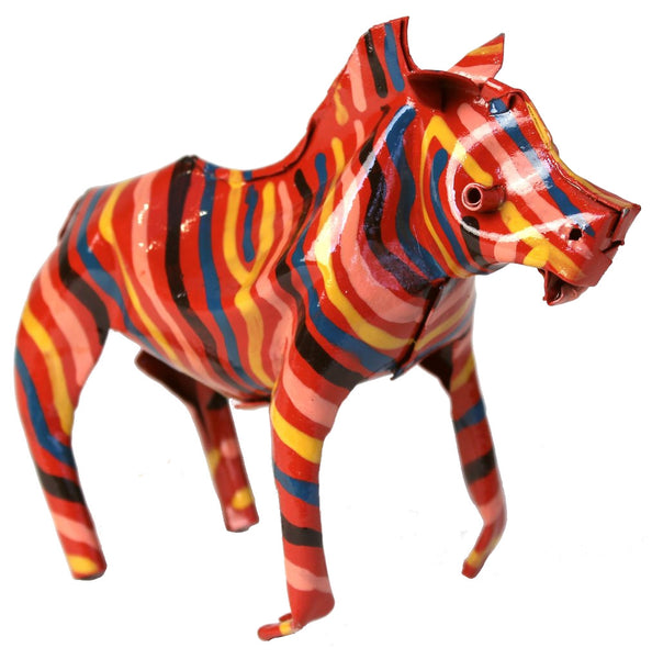 Painted Tin Zebra