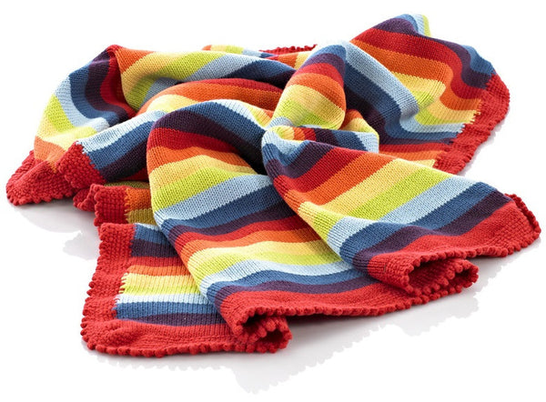 Striped Rainbow Blanket