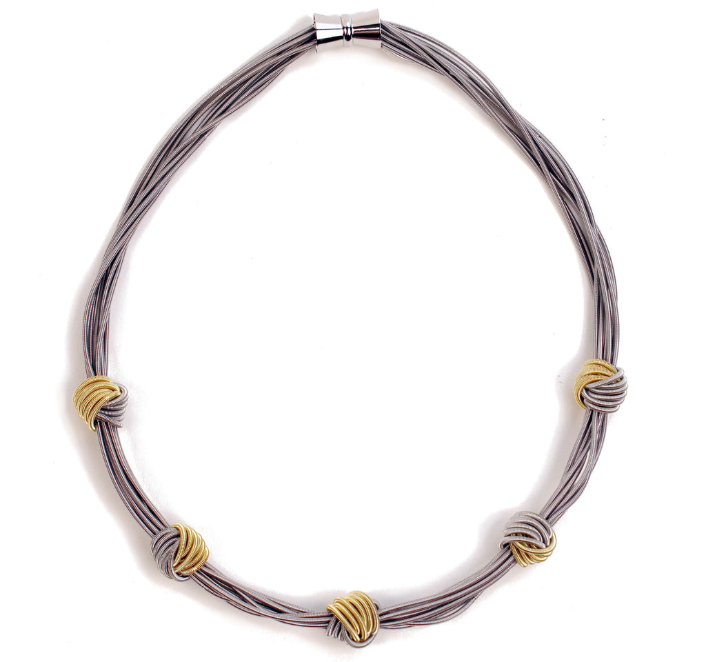 Piano Wire Knot Necklace – American Folk Art Museum Shop