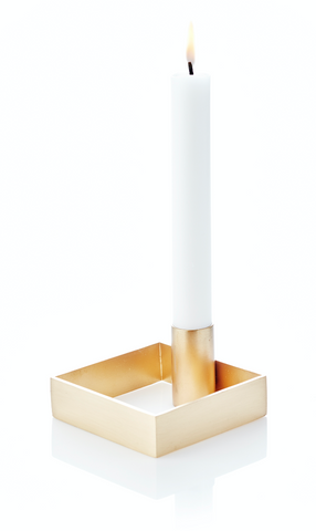 Edge Candle holder - Brass