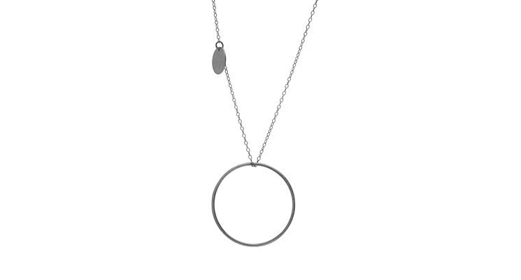 Double Plain Long necklace