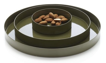 Round Trays - Green