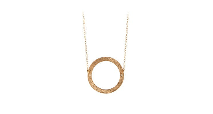 Small Open Coin necklace