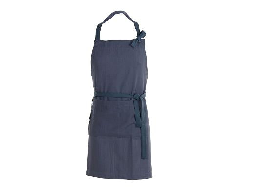 Herringbone Apron blue