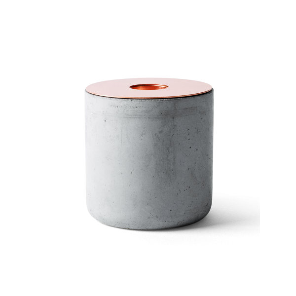 Chunk candle holder - Concrete