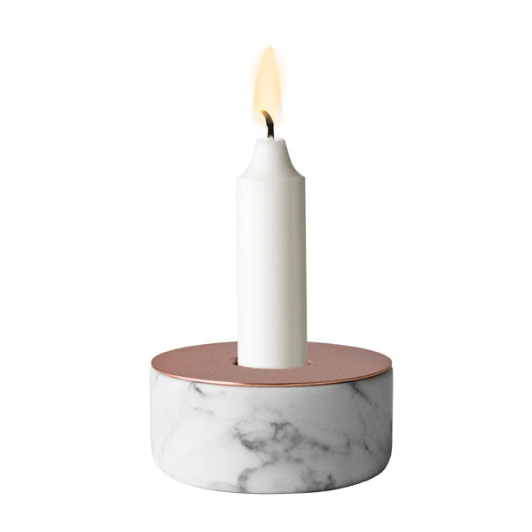 Chunk candle holder - Marble