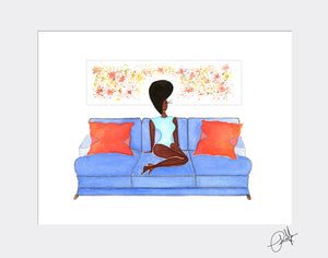 Eclectic Relaxation -  Mini  Print