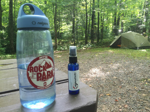 Traveling Ted carries liquid electrolytes on his outdoor adventures