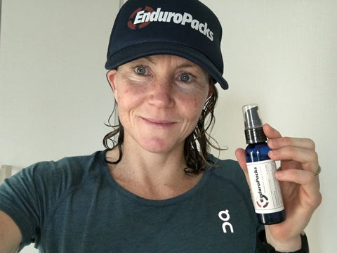 Mary Beth Ellis likes the convenience of liquid electrolytes for racing and training